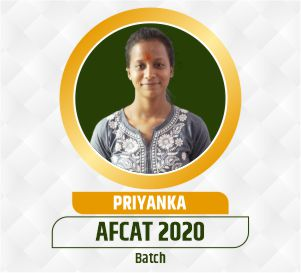 Priyanka AFCAT Selection