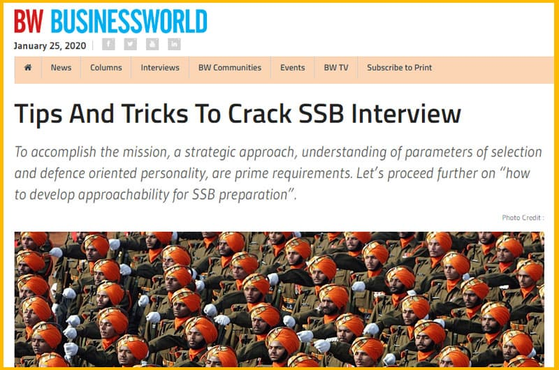 ssb interview tips