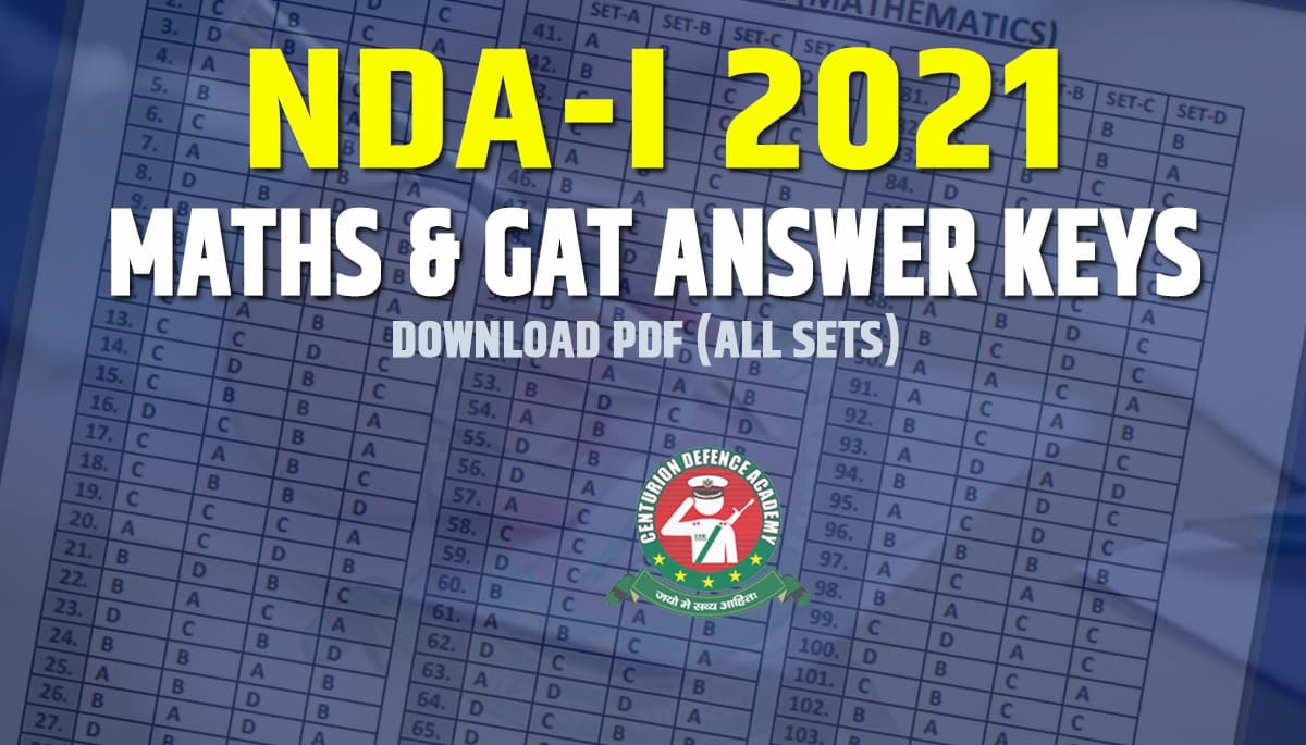 nda 2021 answer key