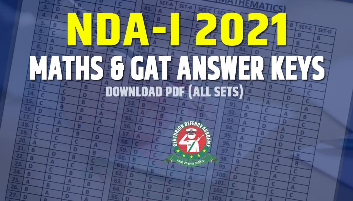 nda 2021 answer key